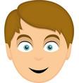 a mans face cartoon vector image vector image