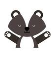 animal skunk cartoon vector image