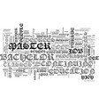 are bachelor text word cloud concept vector image vector image
