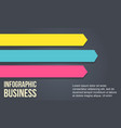 arrow design element for business infographic vector image