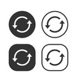arrow refresh update icon set vector image vector image