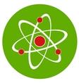 Atom sign icon vector image