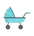 baby trolley icon flat style vector image vector image