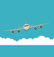 background front view civil aircraft vector image vector image