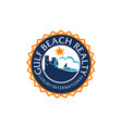 beach realty logo design template vector image vector image