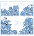 blue colour set of floral decorative background vector image