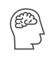 Brainstorm line icon vector image vector image