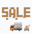 business box sale shape template design vector image vector image