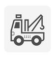 car towing icon vector image