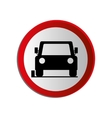 circular contour road sign of car parking area vector image vector image