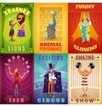Circus 6 flat banners composition poster vector image vector image