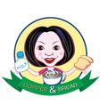 Coffee and bread branding vector image vector image