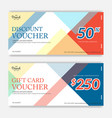 colorful and modern discount voucher or gift vector image