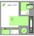 Corporate identity elements mockup vector image