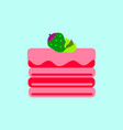 delicious chocolate strawberry cake vector image vector image