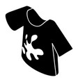 Dirty tshirt icon simple style