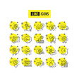discount line icons set of shopping sale and new vector image vector image