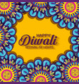 diwali flowers hindu mandalas background vector image vector image