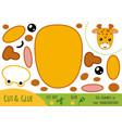 Education paper game for children giraffe