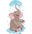 elephant bathing vector image vector image