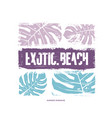 exotic beach graphic t-shirt design vector image vector image