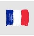 Flag of France on a gray background vector image vector image