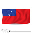Flag of Samoa vector image vector image