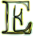 font letter E vector image vector image
