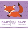 fox animal baby shower card icon vector image vector image