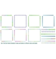 Frames andBorders for Japanes Star Festival vector image vector image