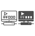 gaming platform line and glyph icon gaming vector image vector image