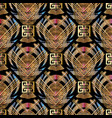 geometric striped 3d meander seamless pattern vector image vector image