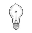 glowing light incandescent bulb vector image vector image
