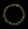 gold glitter design on black background vector image vector image