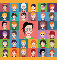 group of people men and women avatar icons vector image vector image
