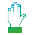 hand stop isolated icon vector image