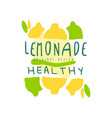 healthy lemonade healthy original design logo vector image vector image