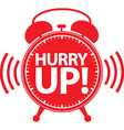 Hurry up alarm clock red icon vector image vector image