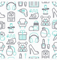 hypermarket seamless pattern with thin line icons vector image vector image