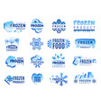 ice product logo frozen food business identity vector image vector image