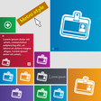 Id card icon sign buttons Modern interface website vector image vector image