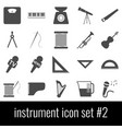 instrument icon set 2 gray icons on white vector image