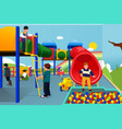kids playing in the playground vector image vector image