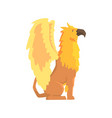 legendary griffin monster mythical and fantastic vector image
