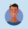 man face cartoon vector image vector image