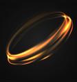 neon blurry circles at motion vector image vector image