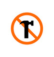 no weapon forbidden weapon sign vector image