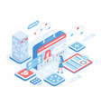 online diagnosis isometric vector image