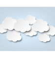 Paper white clouds on blue vector | Price: 1 Credit (USD $1)