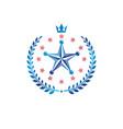 pentagonal stars emblem union theme symbol vector image vector image